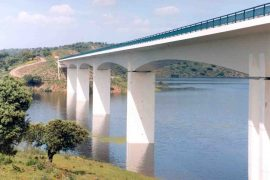 "<div style=""text-align:center; color:white;""><div style=""font-size:17px; "">Bridge over Ribeira da Amiera and Degebe River  *</div><br>Client: EDIA<br>Year: 1999 – 2001</div>"