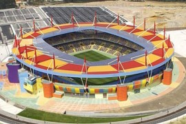 """<div style=""""text-align:center; color:white;""""><div style=""""font-size:17px; """">Aveiro Municipal Stadium</div><br>Client: EMA<br>Year: 2001 – 2003</div>"""