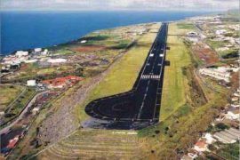"<div style=""text-align:center; color:white;""><div style=""font-size:17px; "">João Paulo II Airport * (São Miguel, Azores)</div><br>Client: Dir. Geral de Aeronáutica Civil<br>Year: 1965 – 1967</div>"