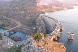 """<div style=""""text-align:center; color:white;""""><div style=""""font-size:17px; """">Chicamba Dam (Mozambique)</div><br>Client: Sociedade Hidroéletrica do Rovué<br>Year: 1965 – 1970</div>"""