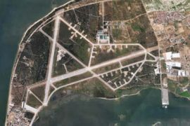 """<div style=""""text-align:center; color:white;""""><div style=""""font-size:17px; """">Montijo Naval Air Base</div><br>Client: Montijo Airbase<br>Year: 1984 – 1985</div>"""