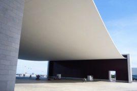 """<div style=""""text-align:center; color:white;""""><div style=""""font-size:17px; """">Pavilhão de Portugal Building *</div><br>Client: Parque Expo<br>Year: 1997 – 1998</div>"""