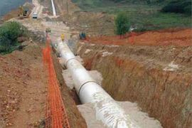 """<div style=""""text-align:center; color:white;""""><div style=""""font-size:17px; """">Castelo do Bode Pipeline System, plots II and III *</div><br>Client: EPAL<br>Year: 2004 – 2005</div>"""