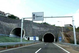 """<div style=""""text-align:center; color:white;""""><div style=""""font-size:17px; """">Machico / Caniçal Expressway (Caniçal double tunnel) *</div><br>Client: Governo Regional da Madeira<br>Year: 2001 – 2004</div>"""