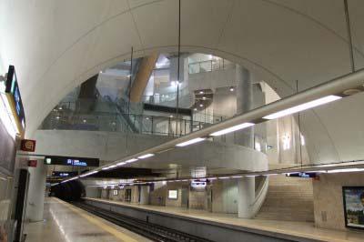 """<div style=""""text-align:center; color:white;""""><div style=""""font-size:17px; """">Estação de Metro da Ameixoeira *</div><br>Cliente: Metropolitano de Lisboa<br>Ano: 2001 – 2005</div>"""