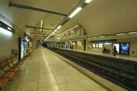 """<div style=""""text-align:center; color:white;""""><div style=""""font-size:17px; """">Estação de Metro de Telheiras *</div><br>Cliente: Metropolitano de Lisboa<br>Ano: 2000 – 2003</div>"""